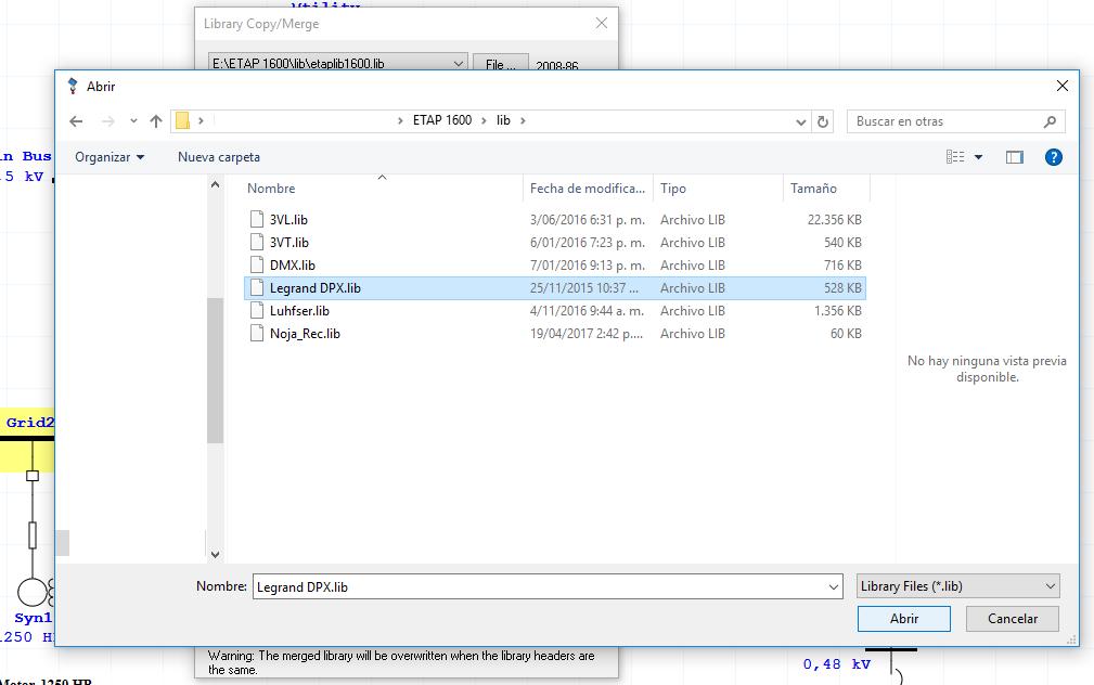 ETAP libraries files * lb