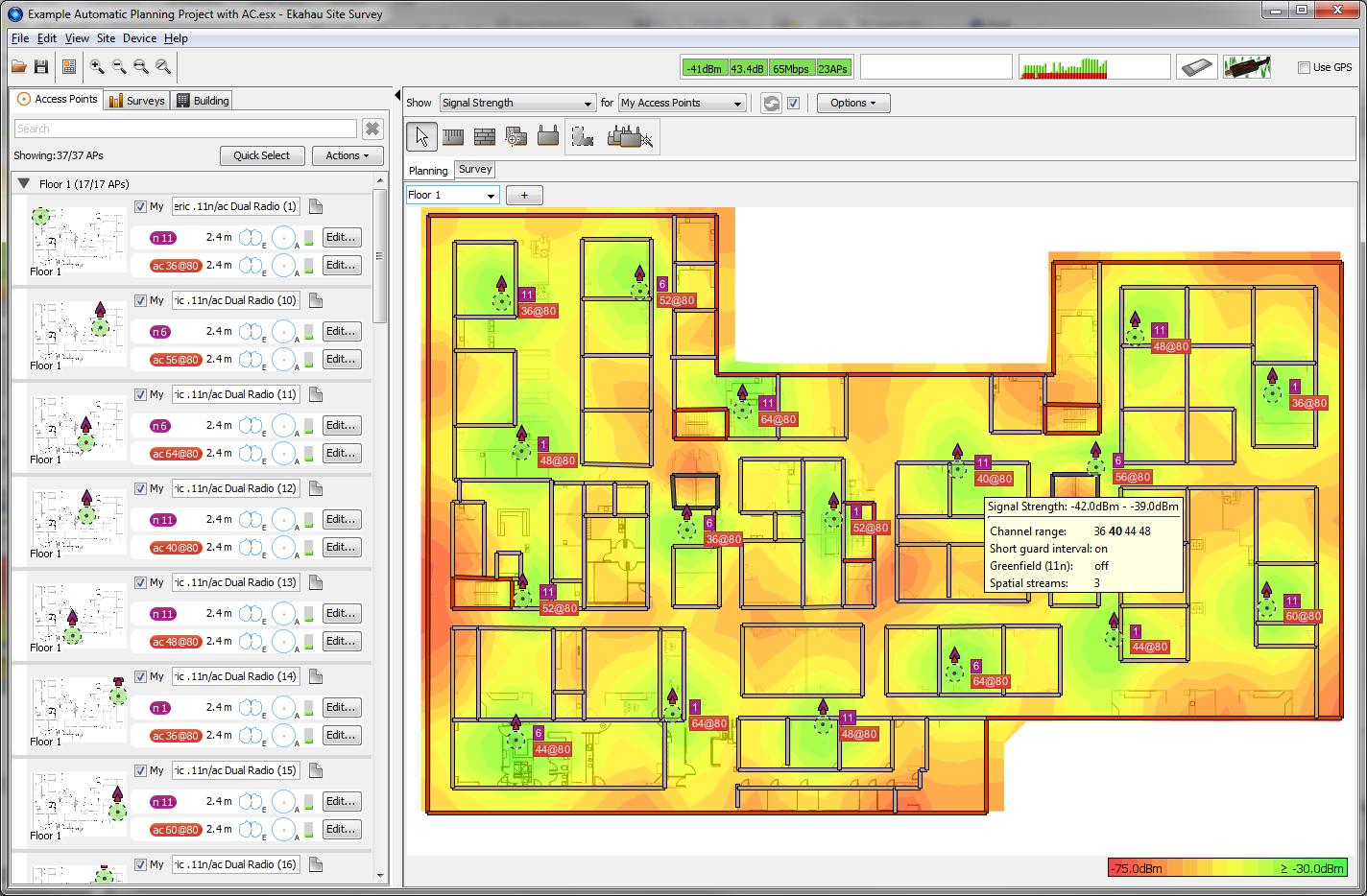 WiFi Heatmapper tool software Site Survey WiFi software – Site Planning Software