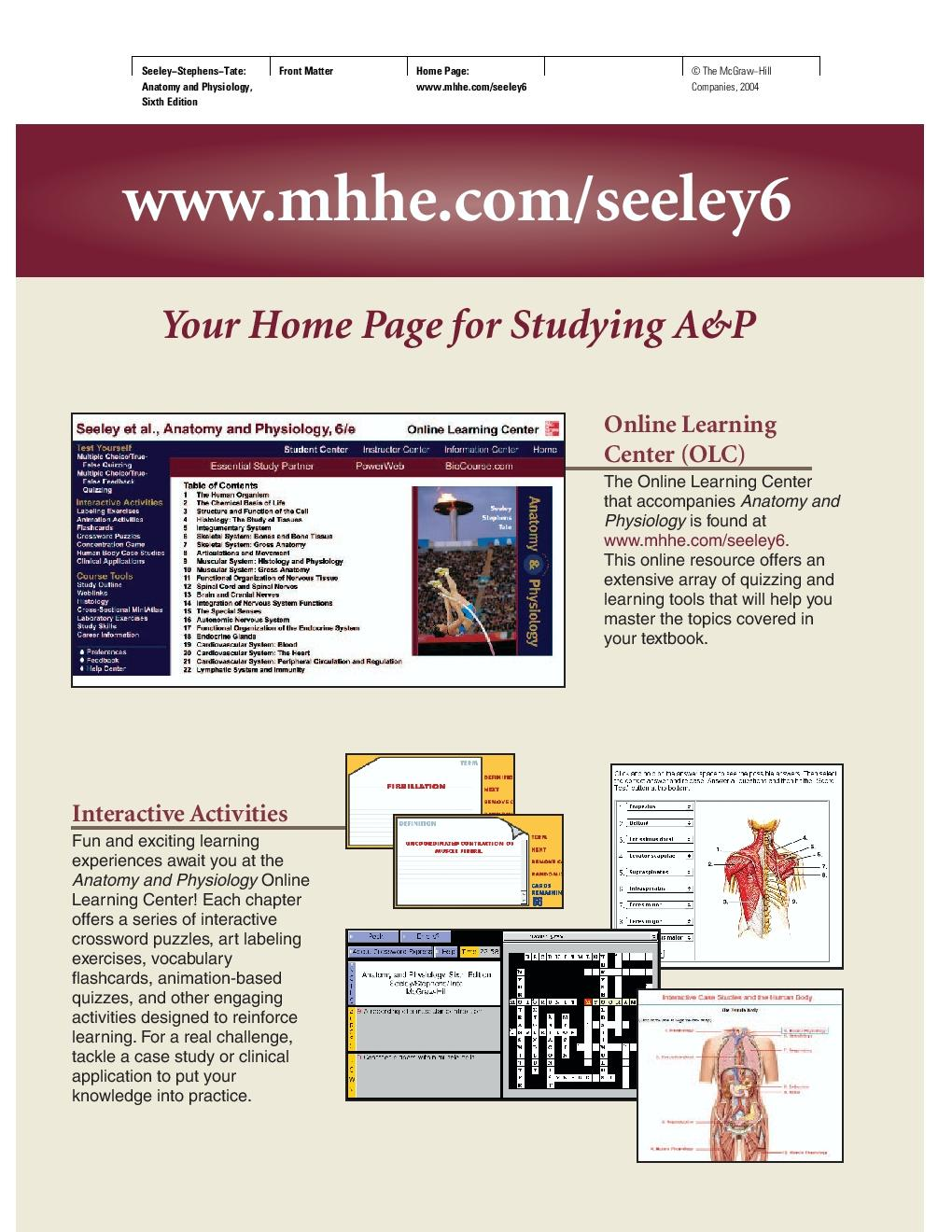 Anatomy and pdf seeleys physiology